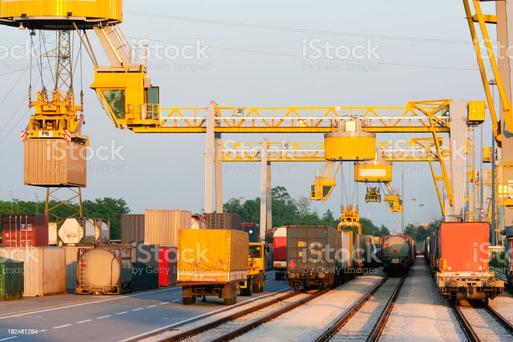 Containers on ship area being transported royalty-free stock photo