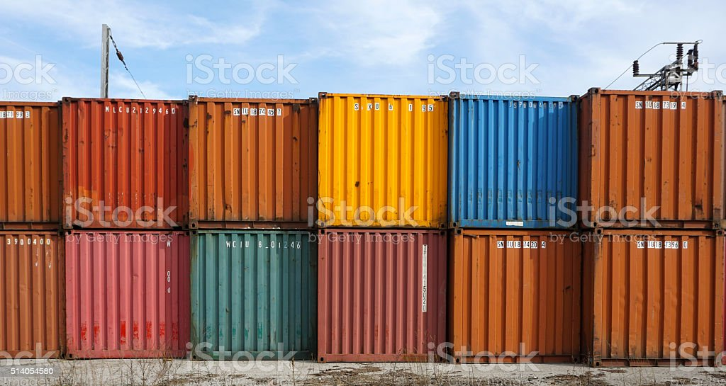 Containers stock photo