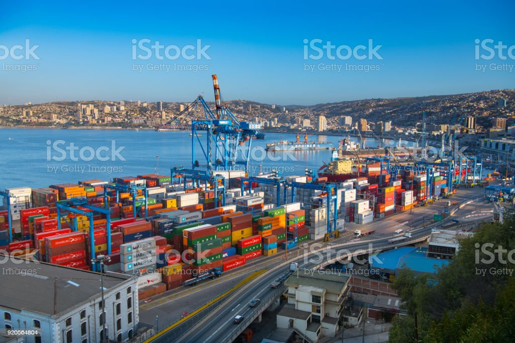 Containers ready for shipping - foto stock