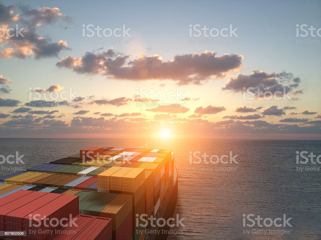 Containers ship sea cargo freight transportation