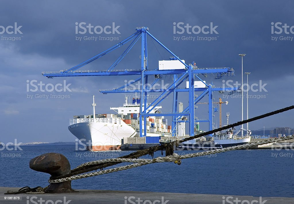 Containership royalty-free stock photo