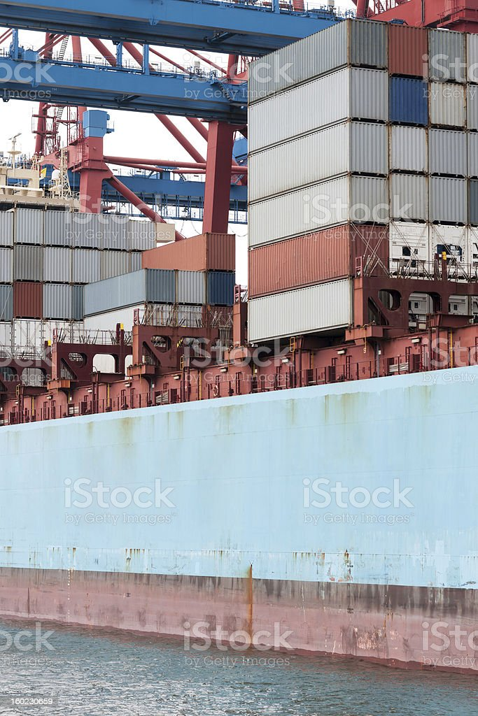 Containership With Cargo Containers royalty-free stock photo