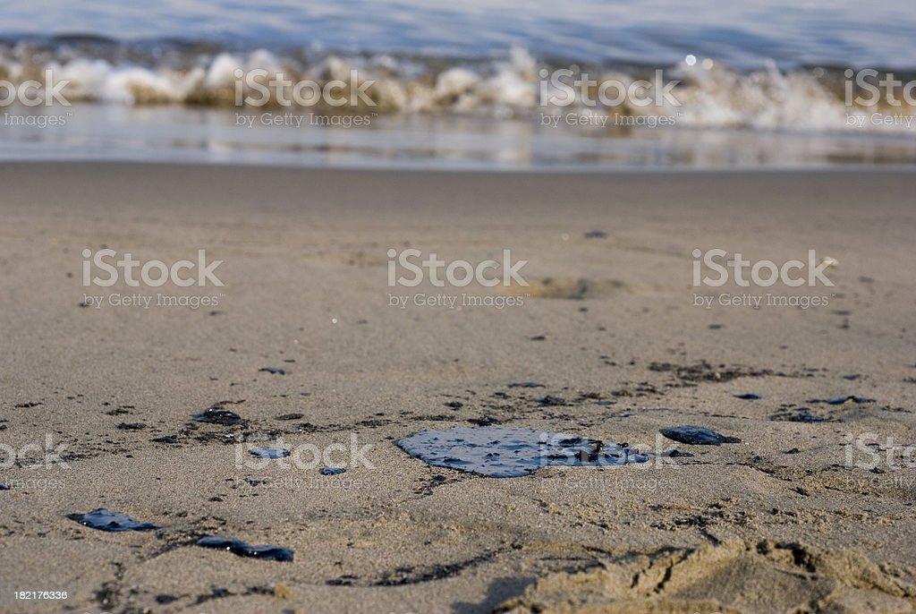 contaminated beach royalty-free stock photo