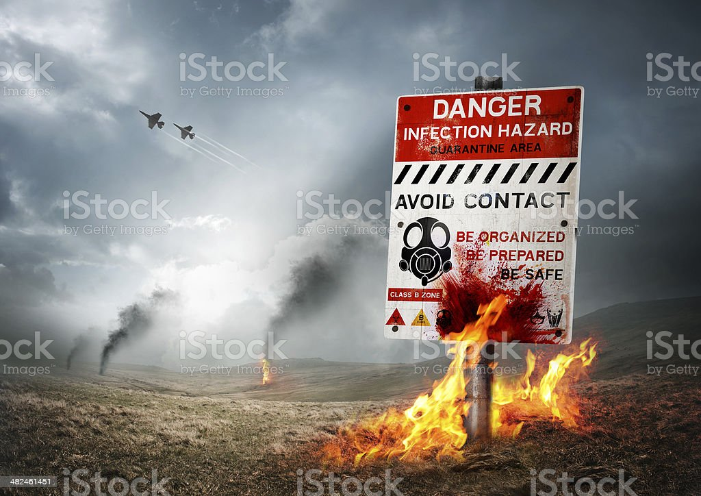 Contaminated Land stock photo