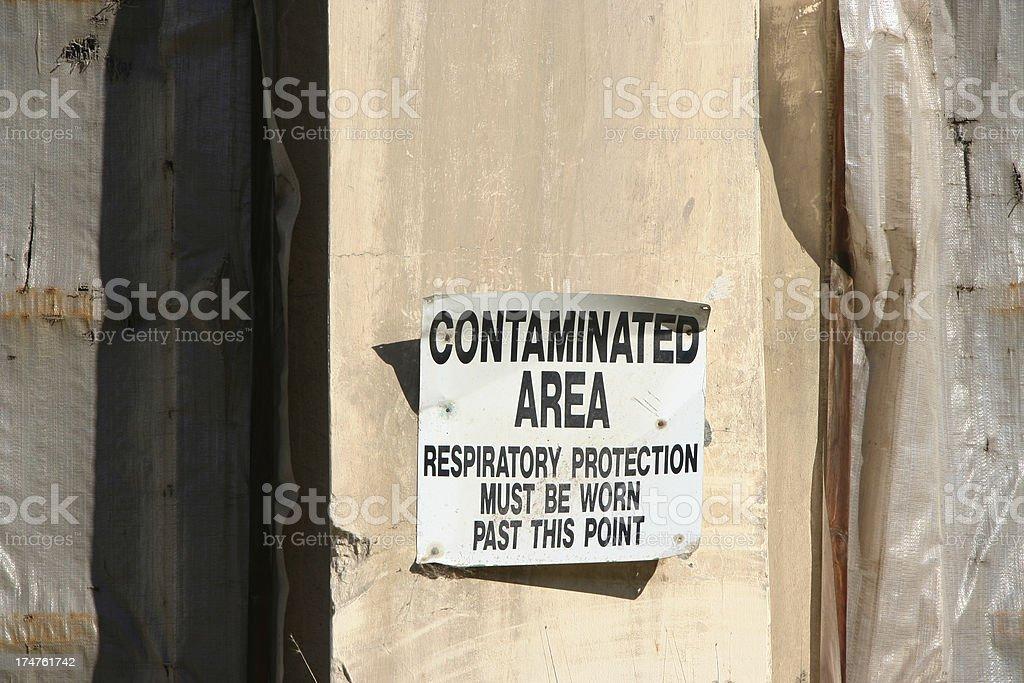 Contaminated Sign royalty-free stock photo