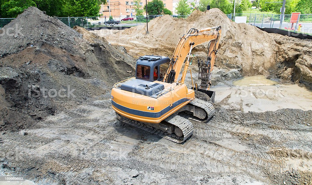 Contaminated Soil Remediation royalty-free stock photo