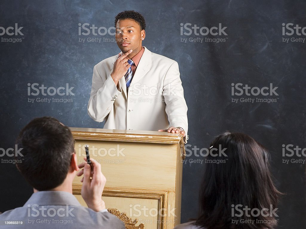 Contemplating a Question royalty-free stock photo