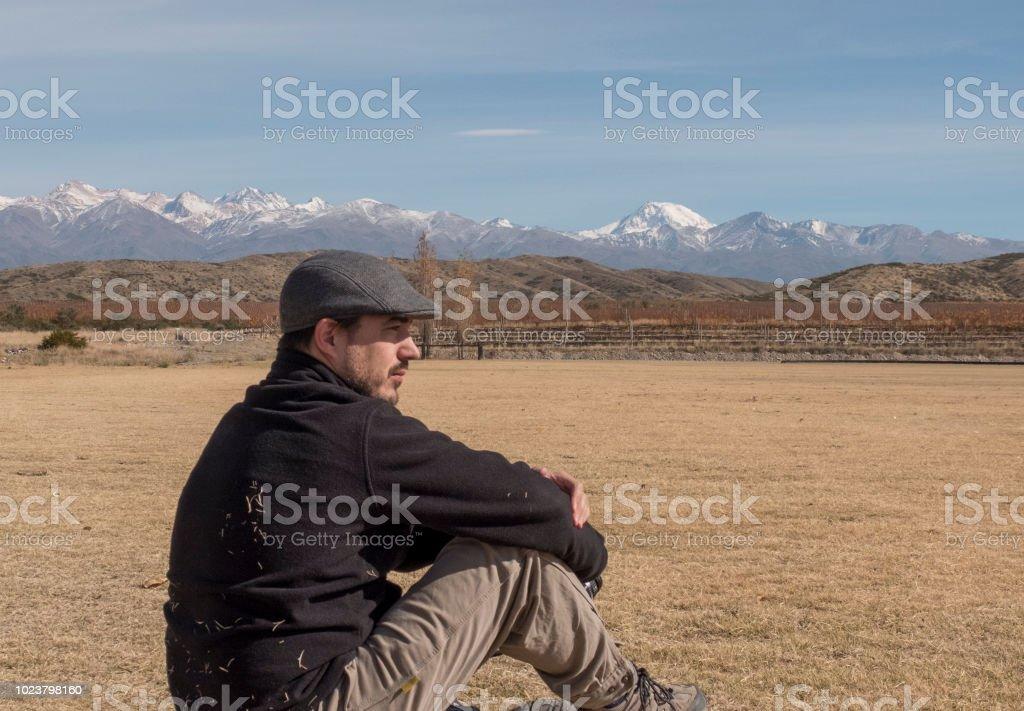 Contemplando la belleza - foto de stock