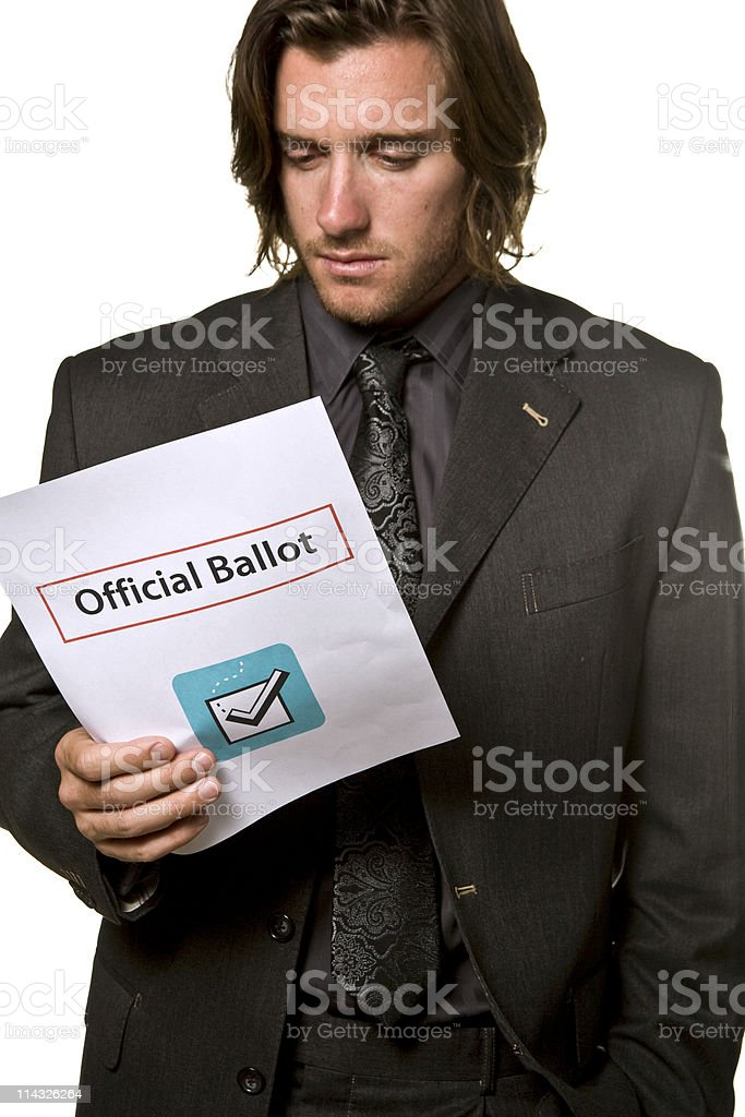 Contemplating Election Choices royalty-free stock photo