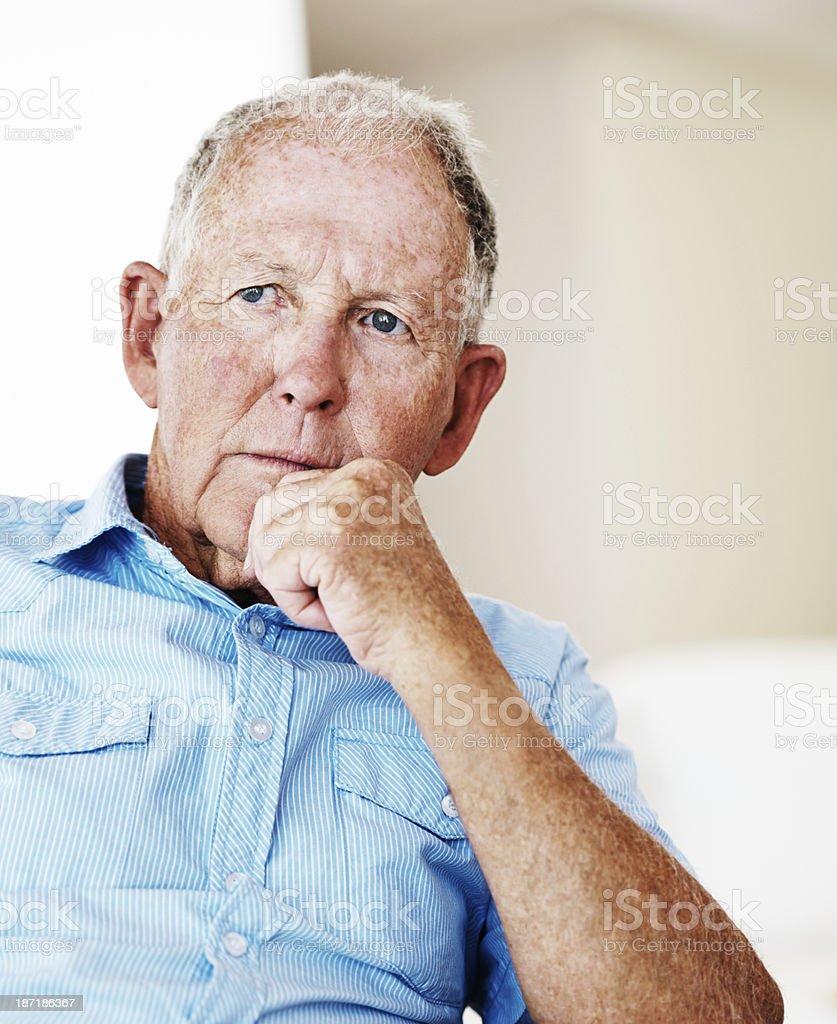 Contemplating his future stock photo