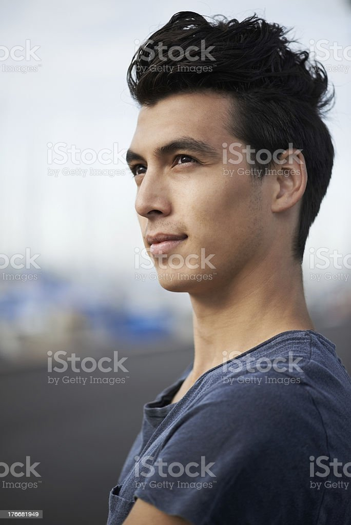 Contemplating life royalty-free stock photo