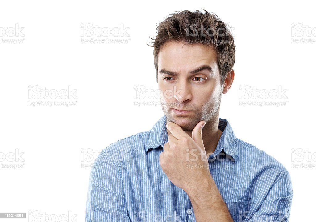 Contemplating my next move royalty-free stock photo
