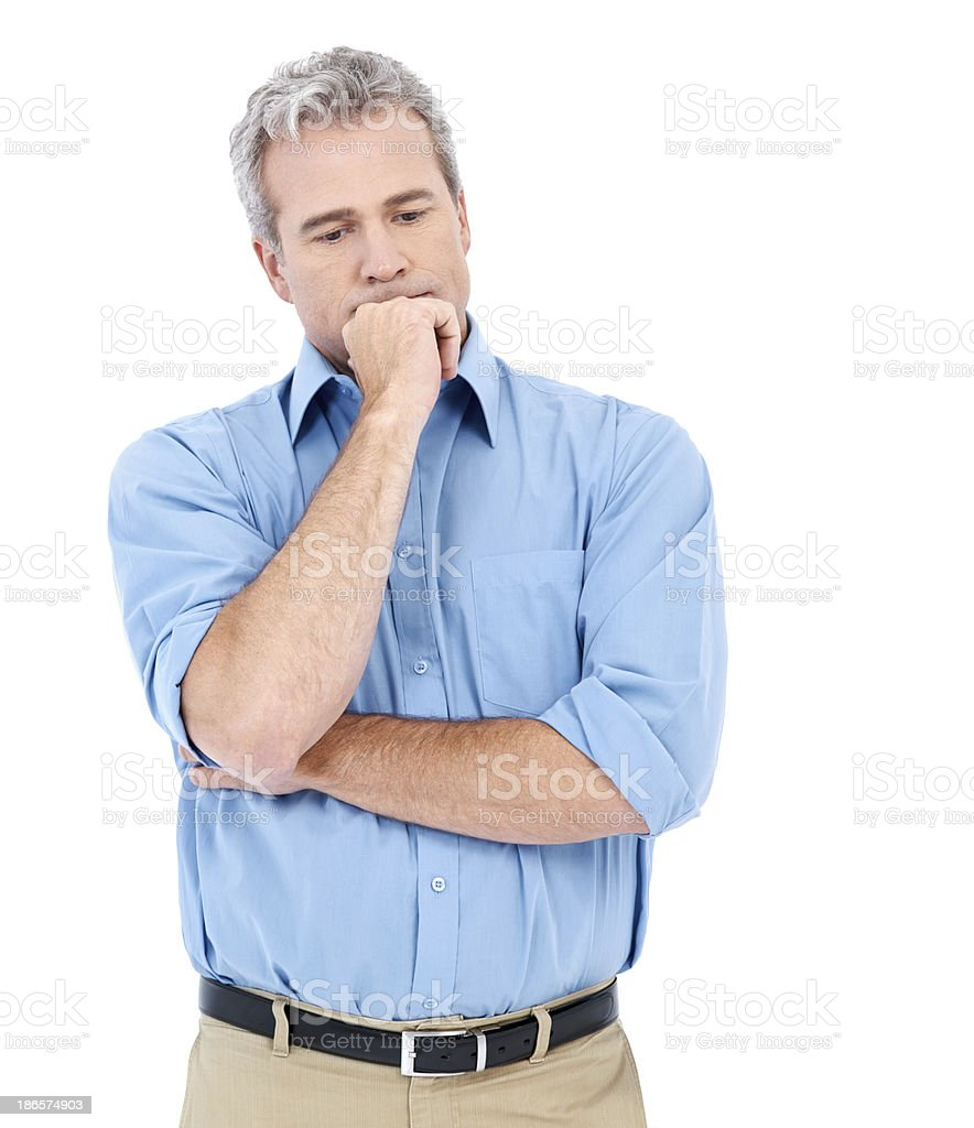 Contemplating on how to up his game royalty-free stock photo