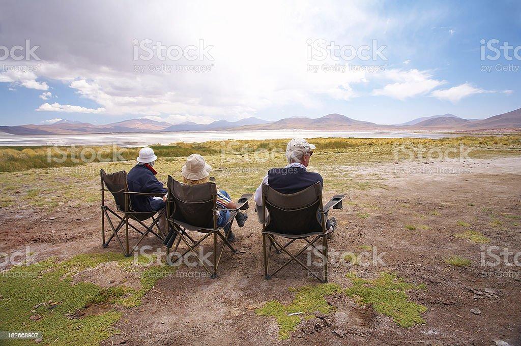 Contemplating Salar de Altiplano - Atacama royalty-free stock photo