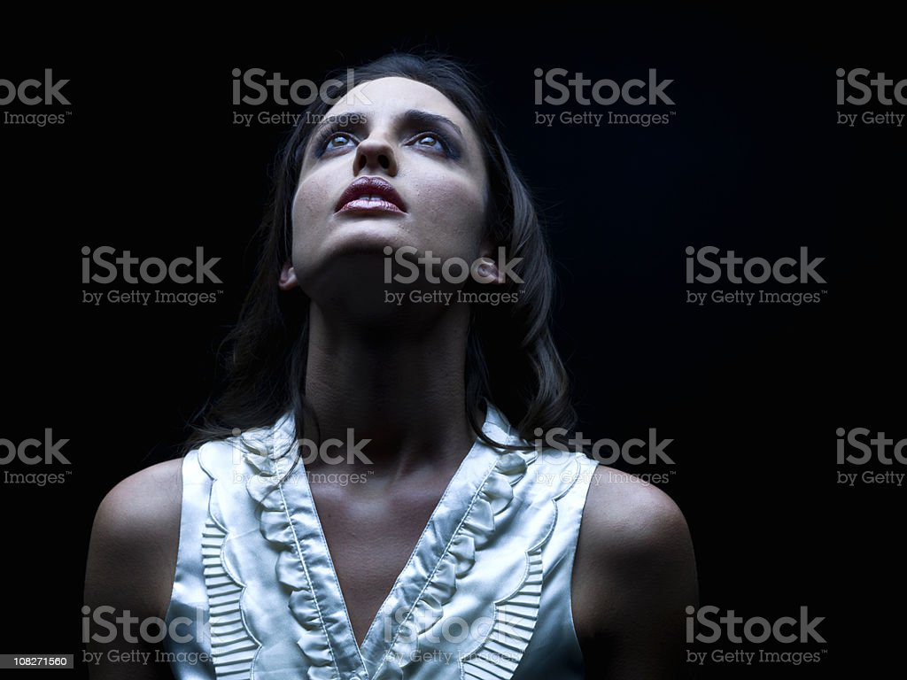 Contemplating the night royalty-free stock photo