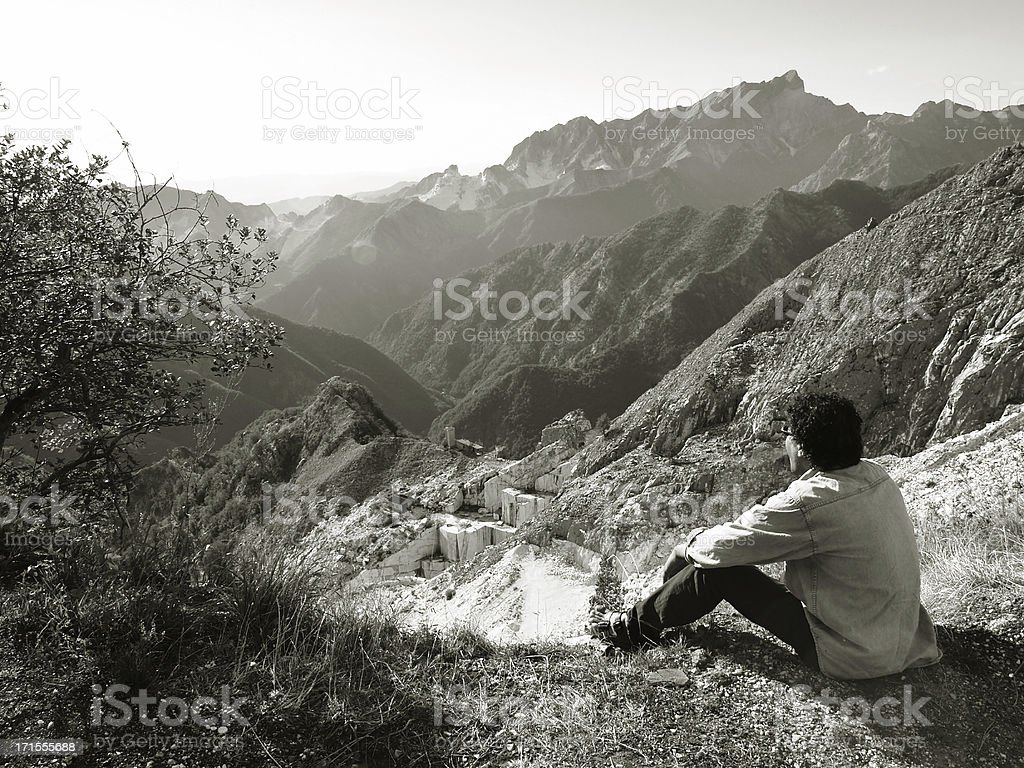 Contemplating the View. royalty-free stock photo