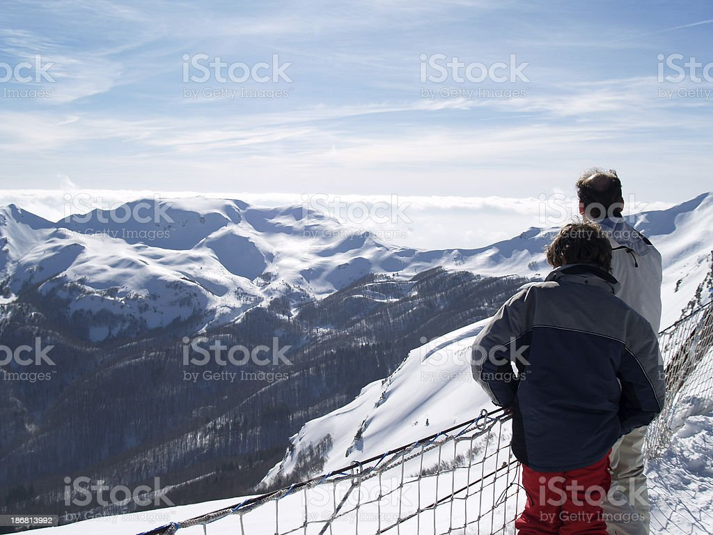 Contemplating the wiew. royalty-free stock photo