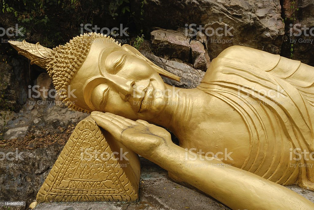 Contemplation Buddha stock photo