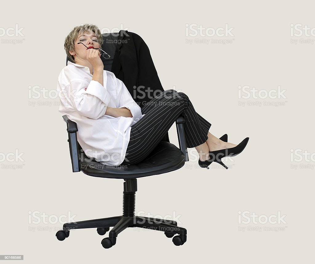 Contemplation business style royalty-free stock photo
