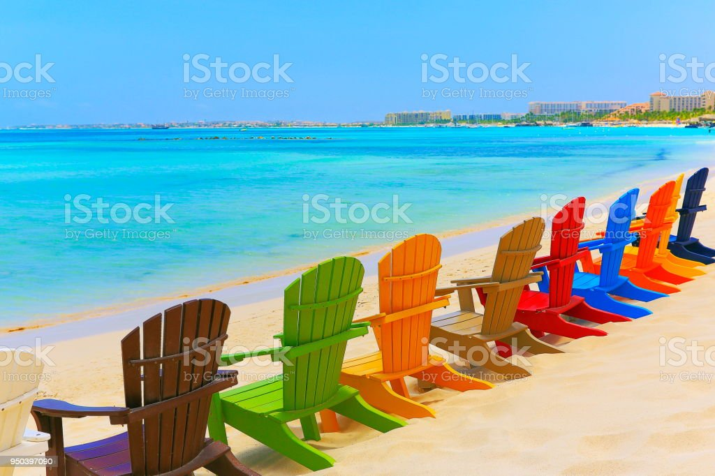 Contemplation Turquoise Beach With Colorful Outdoor ...