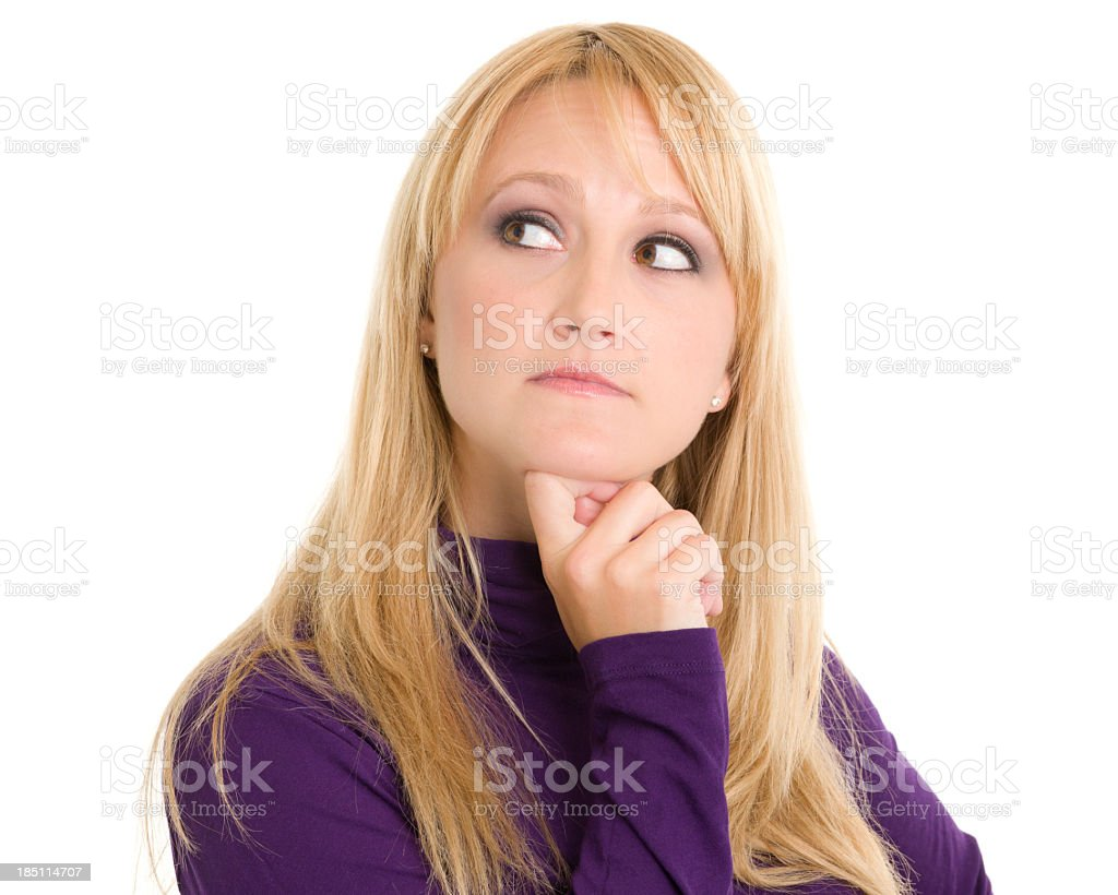 Contemplative Woman Looking Away royalty-free stock photo