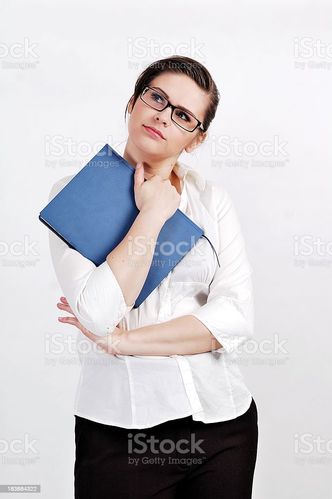 Contemplative Young Businesswoman stock photo