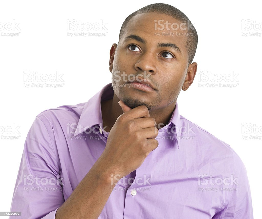 Contemplative Young Man royalty-free stock photo
