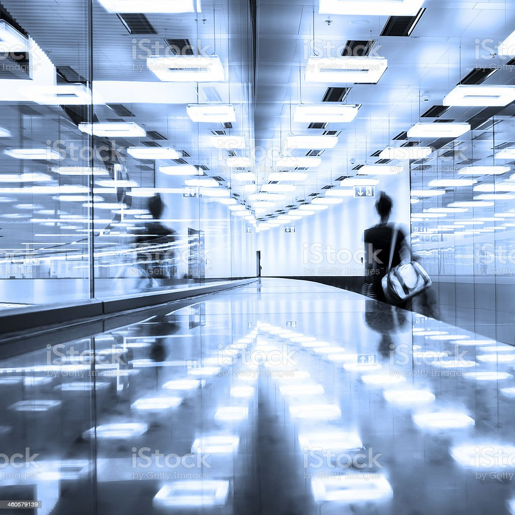 Contemporary airport terminal hall. stock photo