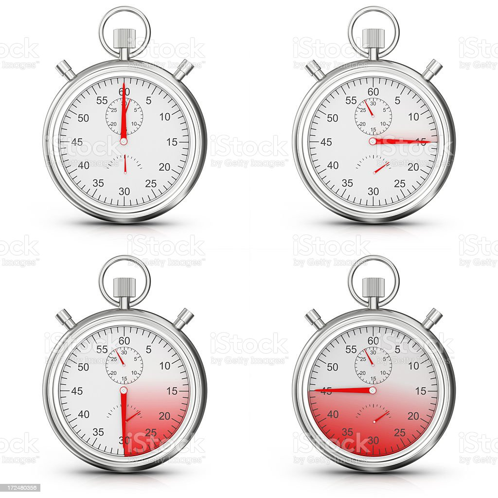 Contemporary Analog Stopwatches royalty-free stock photo