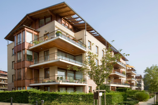 Contemporary Apartment Building Stock Photo - Download Image Now