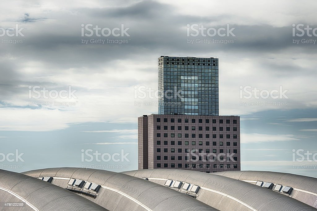 Contemporary architecture Frankfurt, Germany stock photo