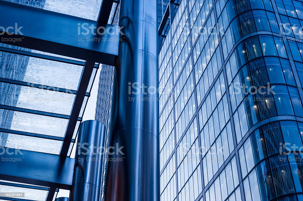 Contemporary architecture in Canary Wharf, London royalty-free stock photo