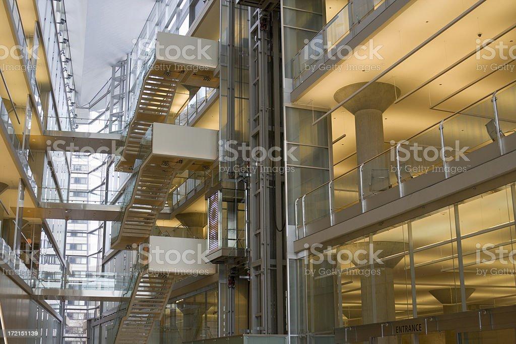 Contemporary Architecture Interior royalty-free stock photo