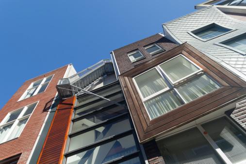 Contemporary architecture Java-eiland Amsterdam