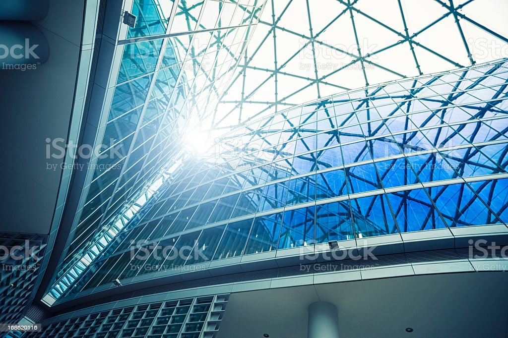 Contemporary architecture stock photo
