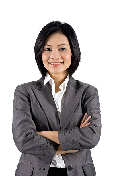 Contemporary Asian Businesswoman Modern Businessperson With Her Arms Folded.  vietnamese ethnicity stock pictures, royalty-free photos & images