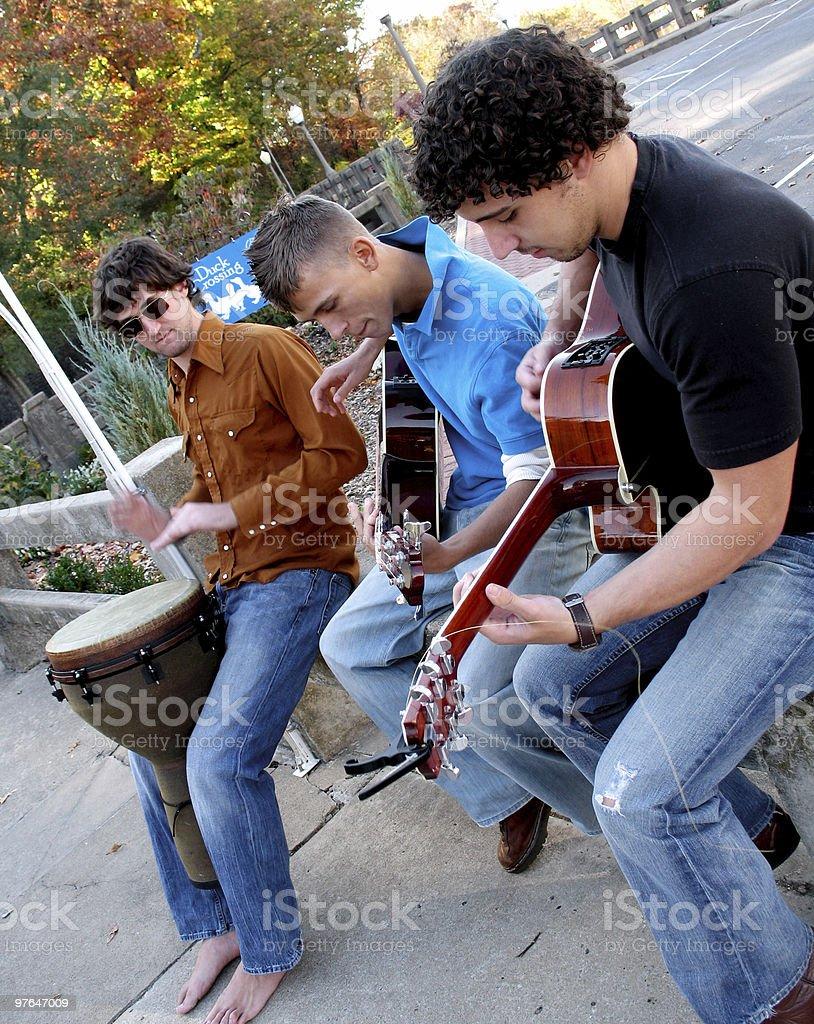 contemporary band angled royalty-free stock photo