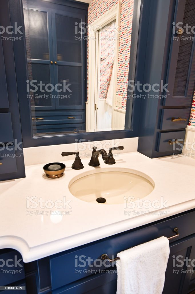 Contemporary Bathroom Design With Sink Vanity And Mirror Stock Photo Download Image Now Istock