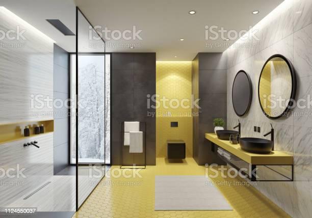 Contemporary bathroom with yellow honeycomb tiles picture id1124550037?b=1&k=6&m=1124550037&s=612x612&h=9znhy40bm1d z9h4prp2vopfi6tqxu3ywhfzdhf6bd4=