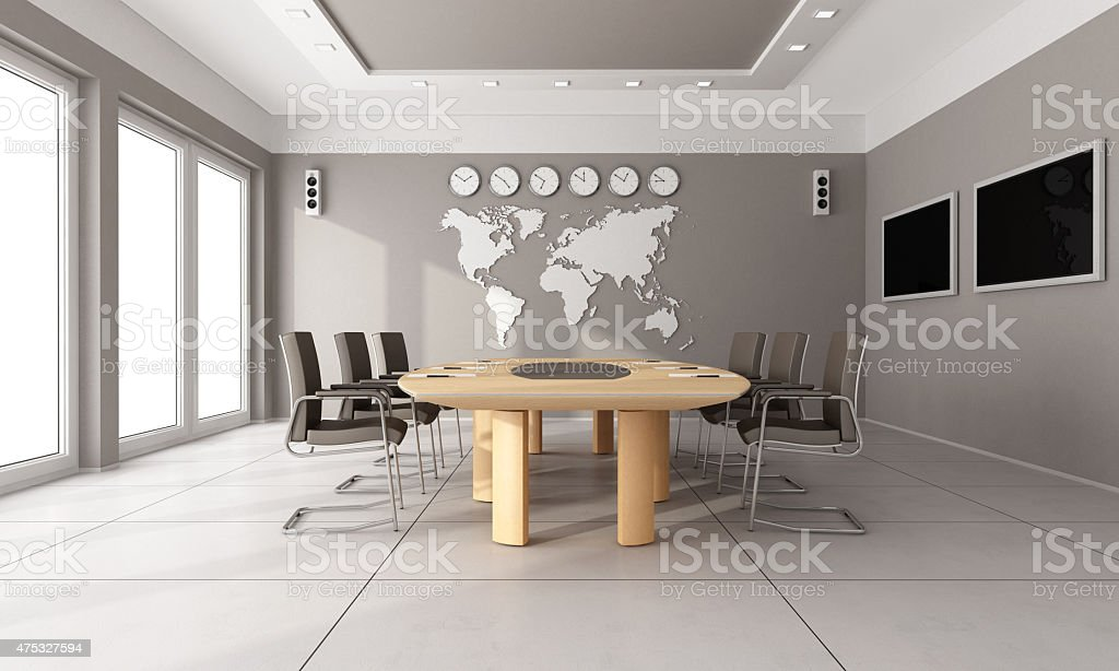 Contemporary  board room stock photo