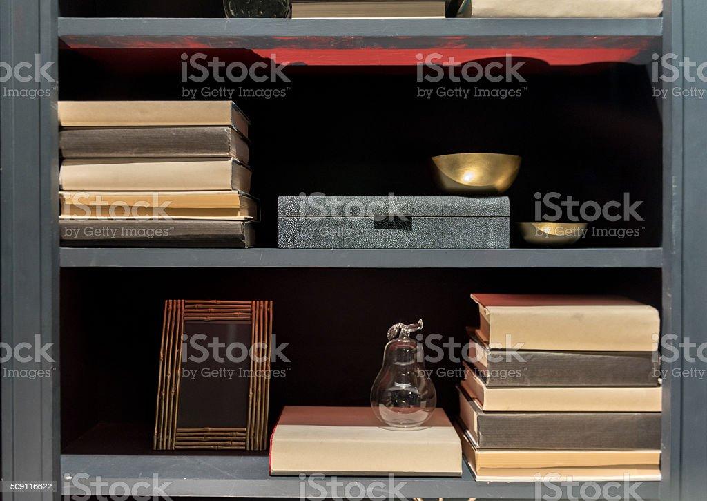 Contemporary Bookcase stock photo