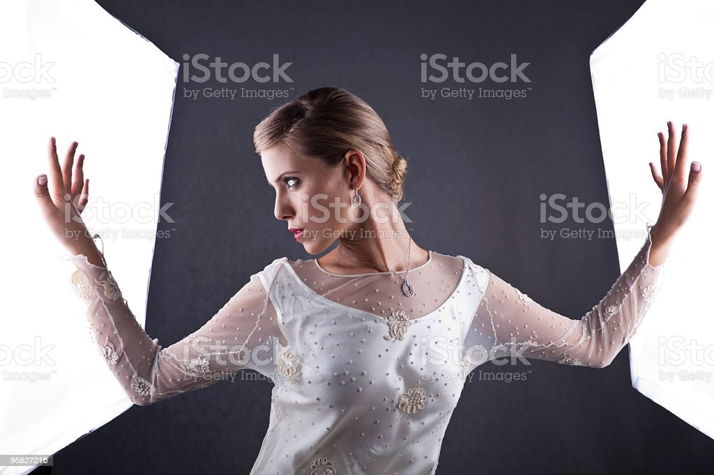 Contemporary bride royalty-free stock photo