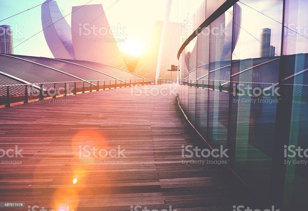 Extérieur de l'immeuble gratte-ciel moderne de conception - Photo