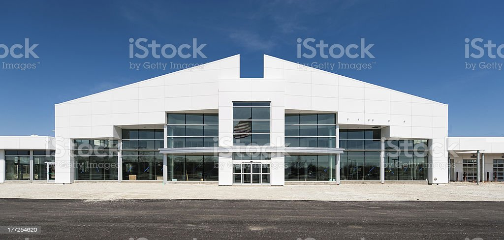 Contemporary building under construction stock photo