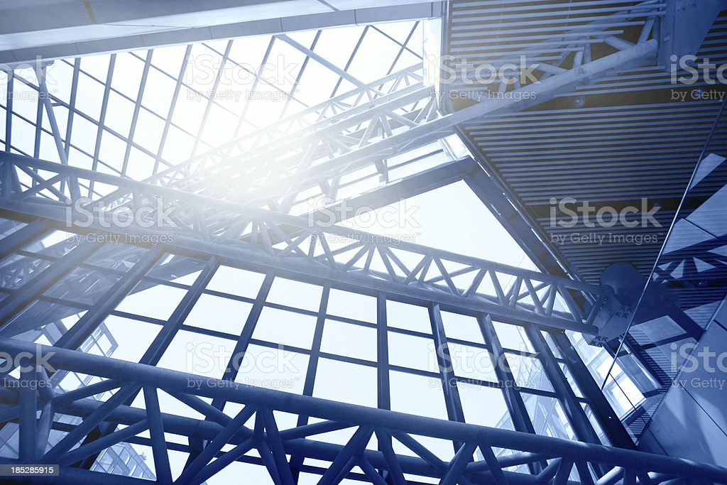 Contemporary building with Sunlight royalty-free stock photo
