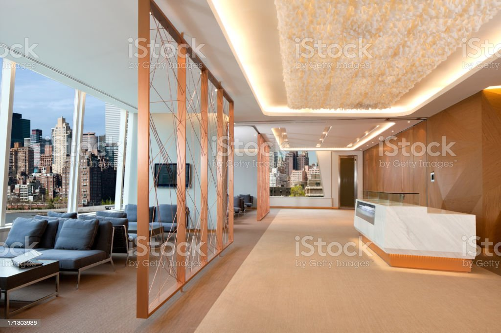 Contemporary Business Lobby stock photo