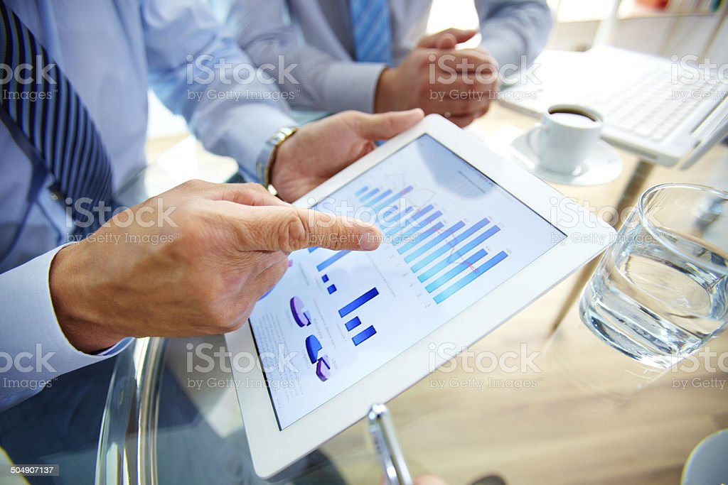 Contemporary business stock photo