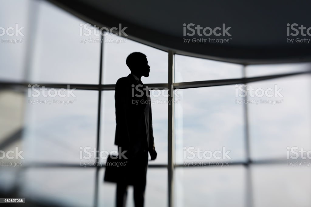 Contemporary businessman stock photo
