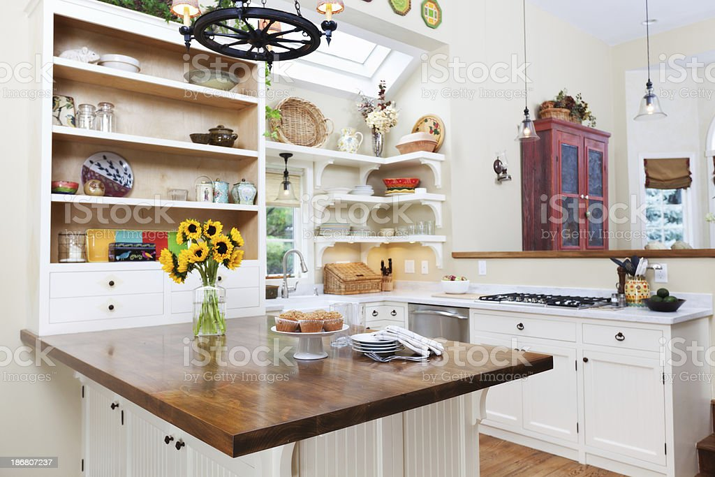 Contemporary Classic Showcase Kitchen stock photo