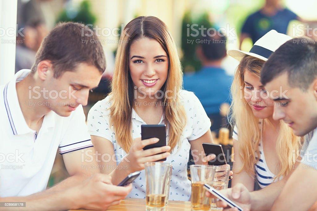 Moderna comunicazione - foto stock